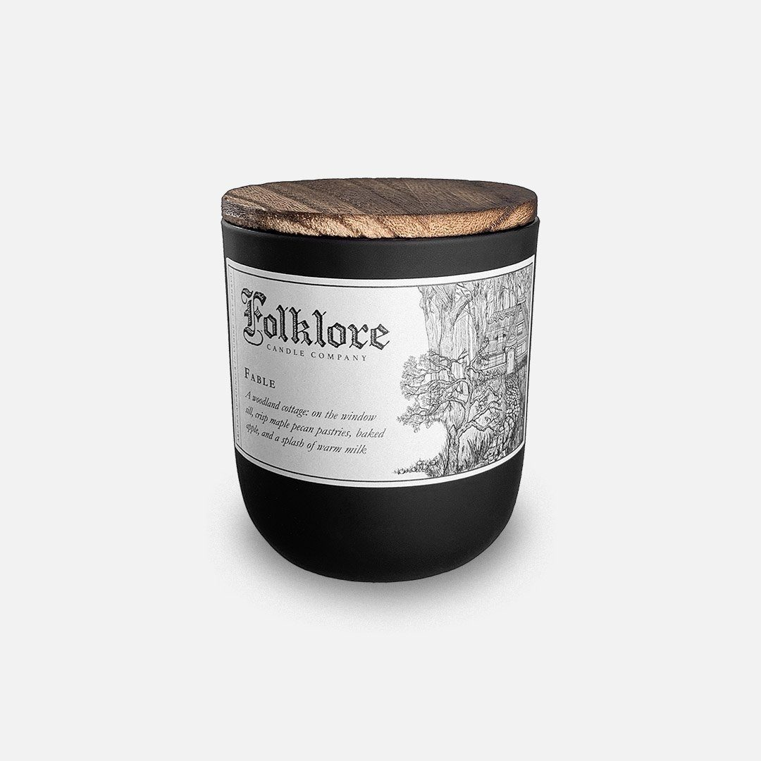 Folklore Candle - Fable Soy Wax Jar Candle Header Shot