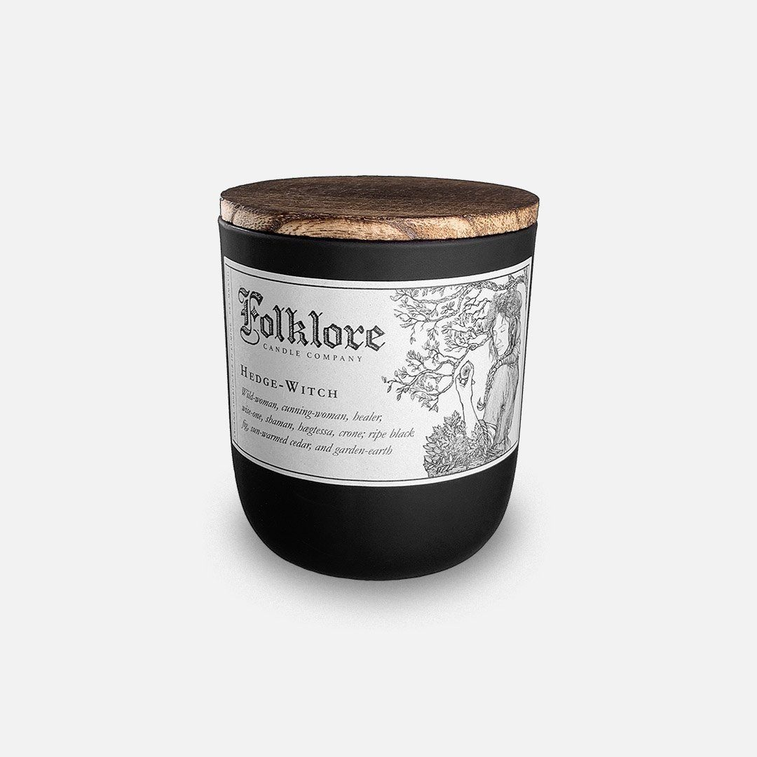 Folklore Candle - Hedge-Witch Soy Wax Jar Candle Header Shot