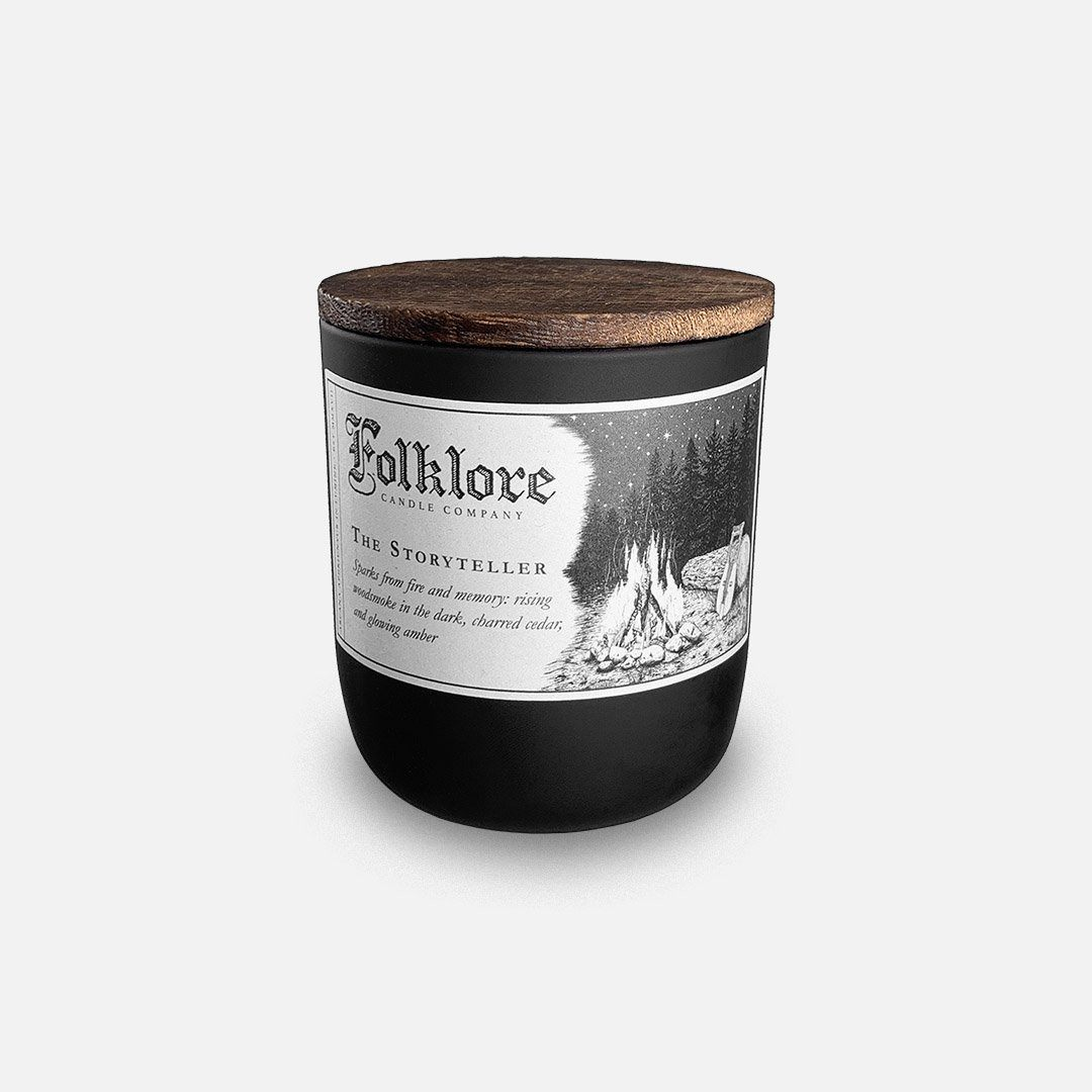 Folklore Candle - The Story Teller Soy Wax Jar Candle Header Shot