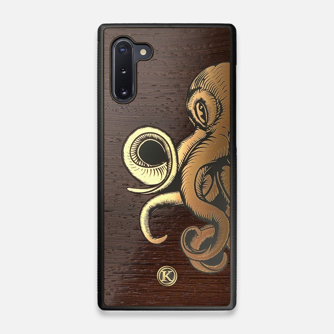 TPU/PC Sides of the classic Camera, silver metallic and wood Galaxy Note 10 Case by Keyway Designs