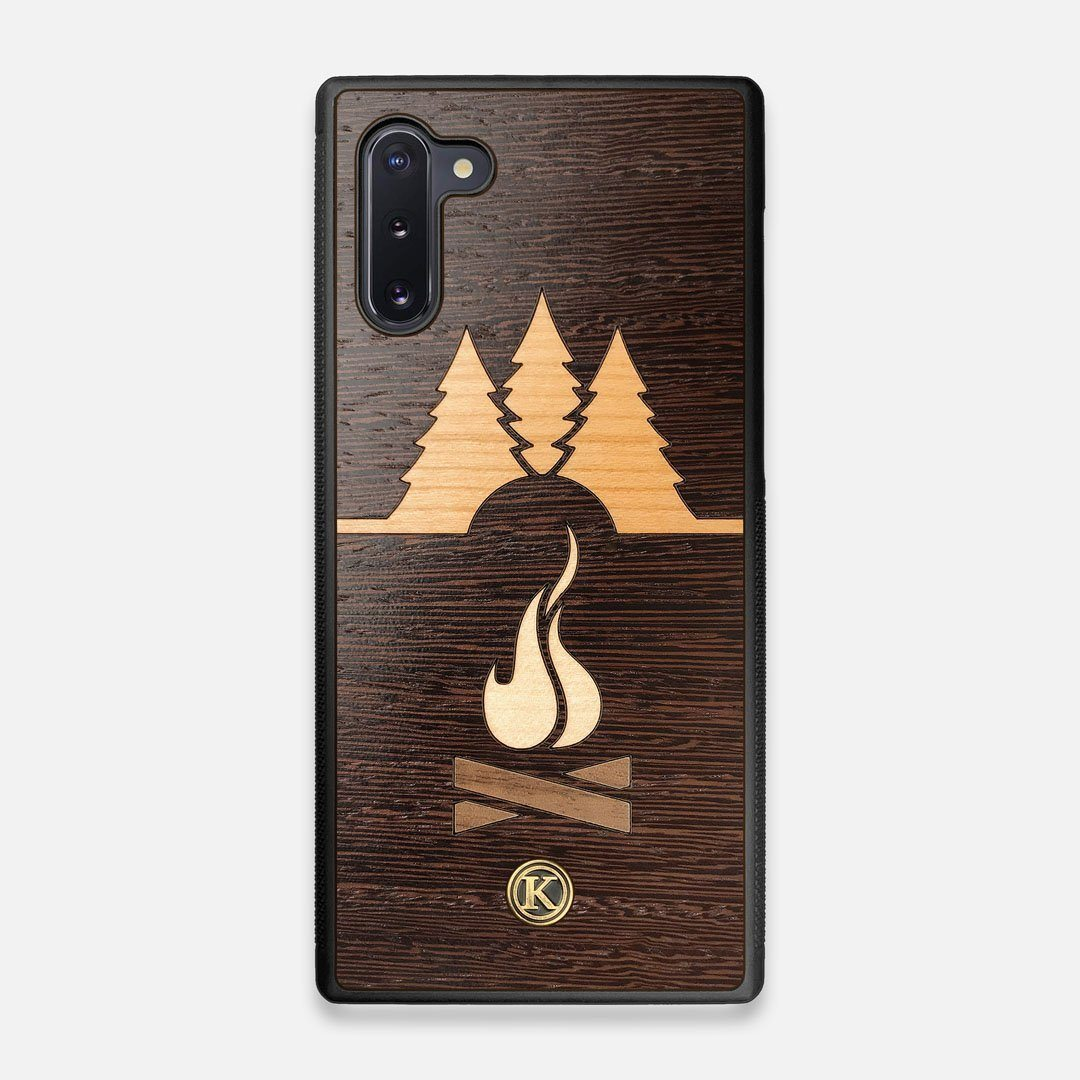 Front view of the Nomad Campsite Wood Galaxy Note 10 Case by Keyway Designs