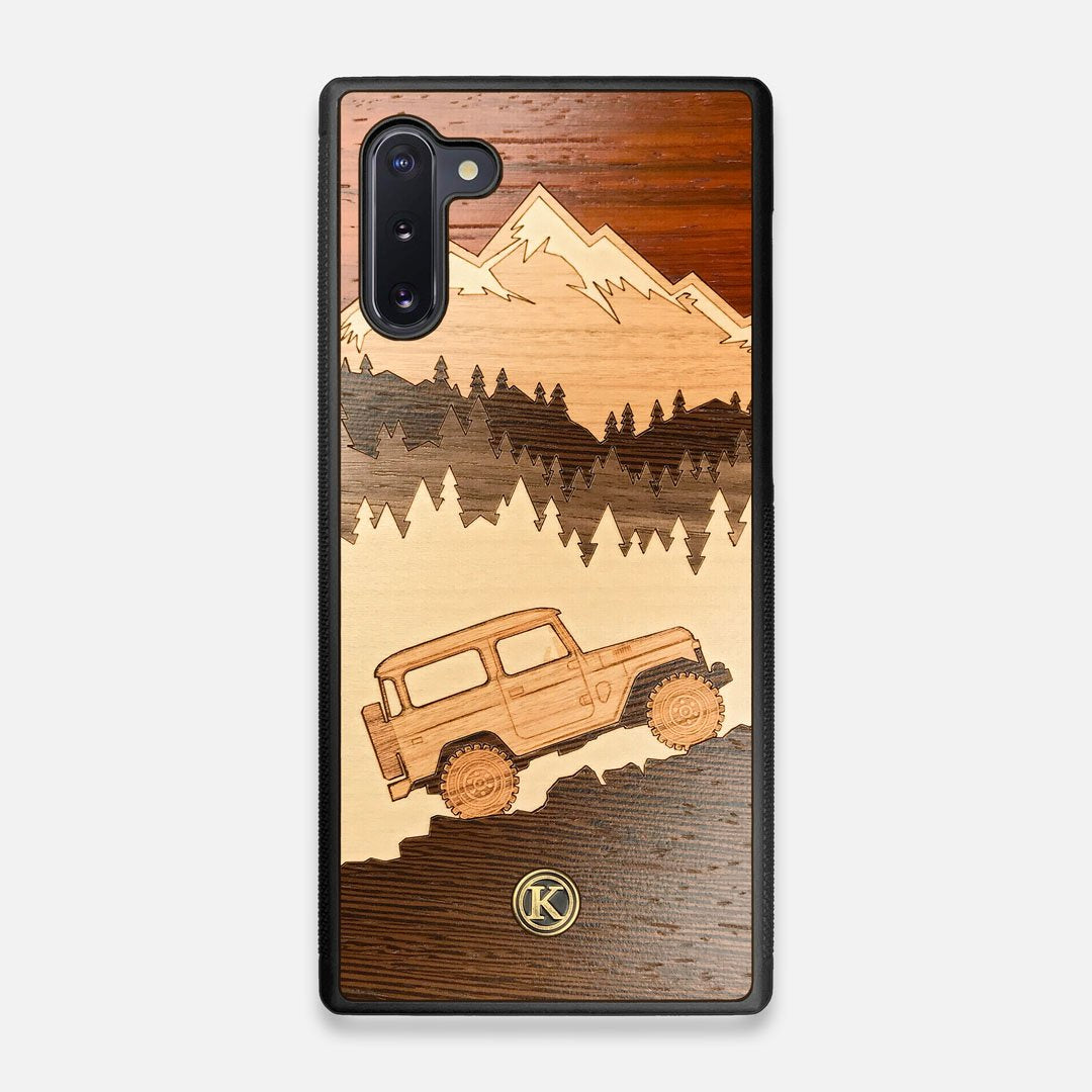 TPU/PC Sides of the Off-Road Wood Galaxy Note 10 Case by Keyway Designs