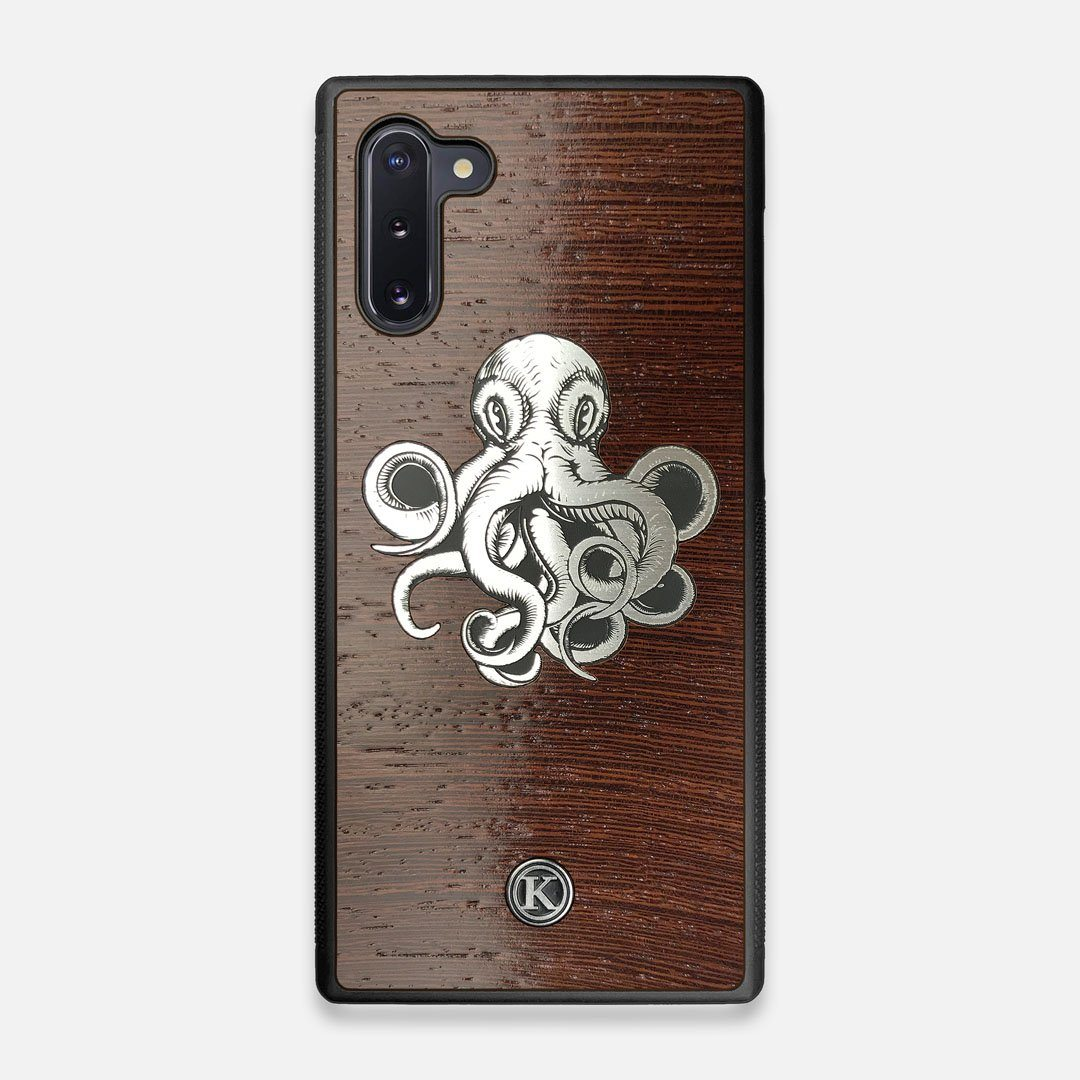 Front view of the Prize Kraken Wenge Wood Galaxy Note 10 Case by Keyway Designs