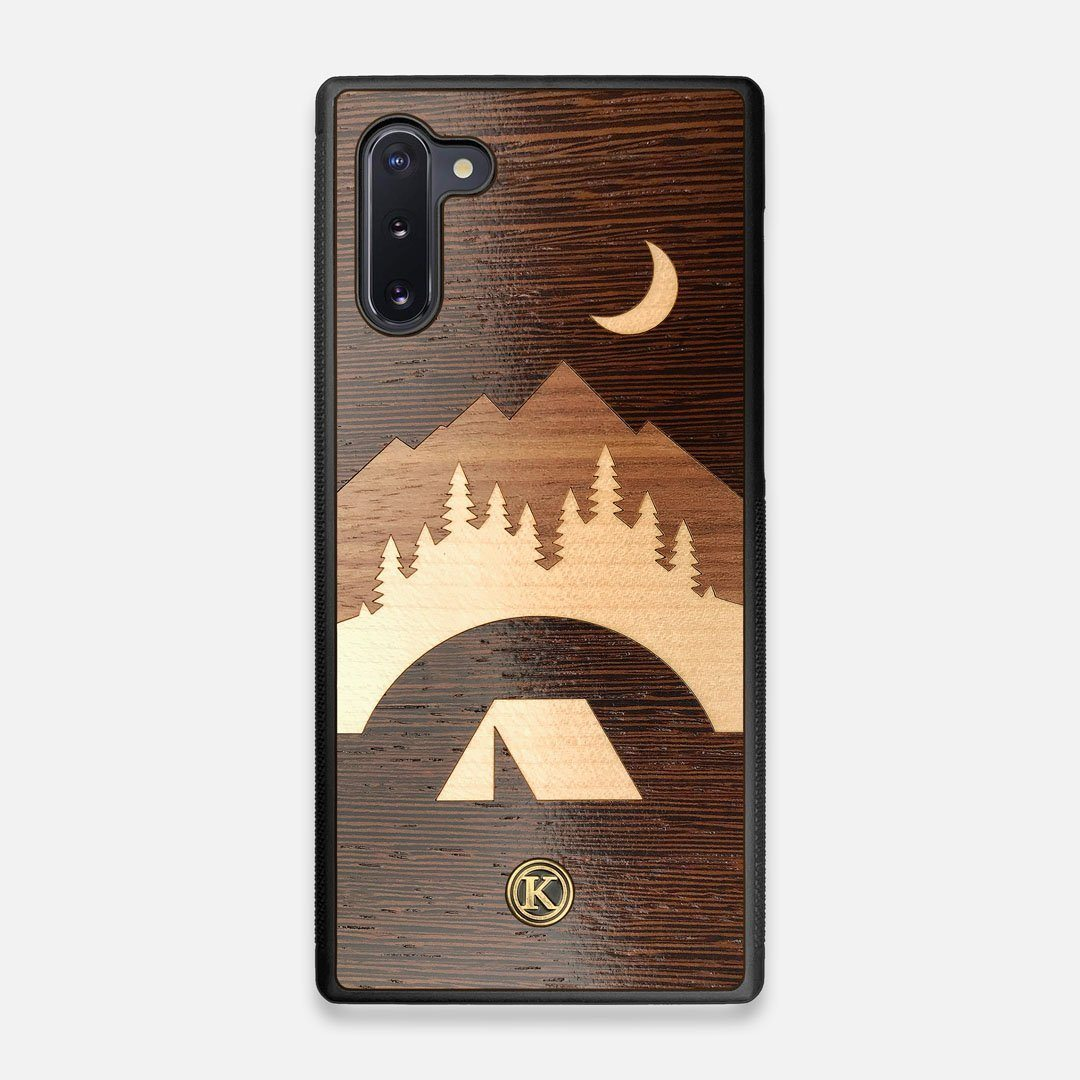 Front view of the Wilderness Wenge Wood Galaxy Note 10 Case by Keyway Designs