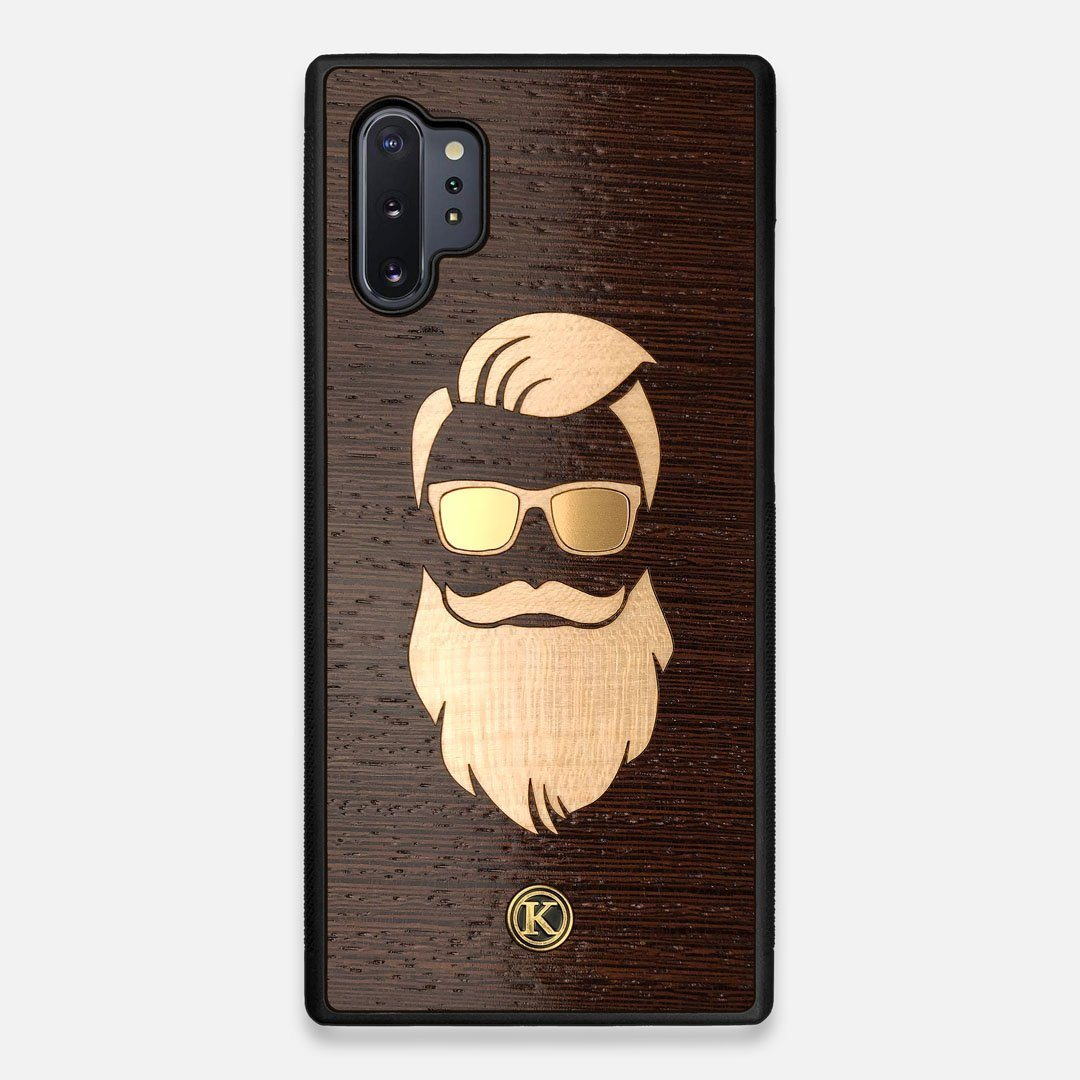 Front view of the The Blonde Beard Wenge Wood Galaxy Note 10 Plus Case by Keyway Designs
