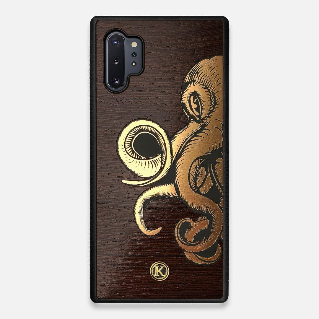 TPU/PC Sides of the classic Camera, silver metallic and wood Galaxy Note 10 Plus Case by Keyway Designs