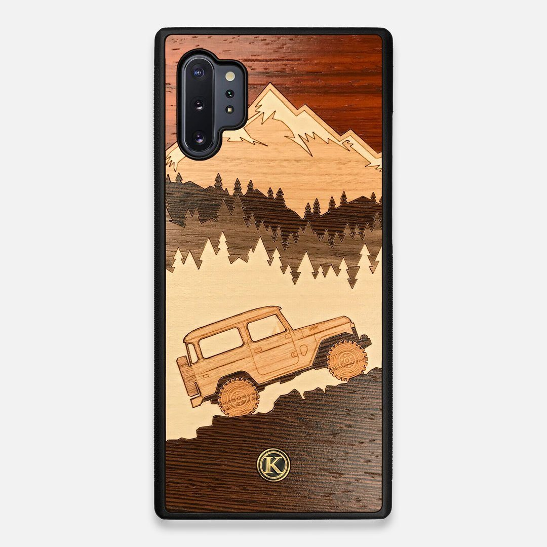 TPU/PC Sides of the Off-Road Wood Galaxy Note 10 Plus Case by Keyway Designs