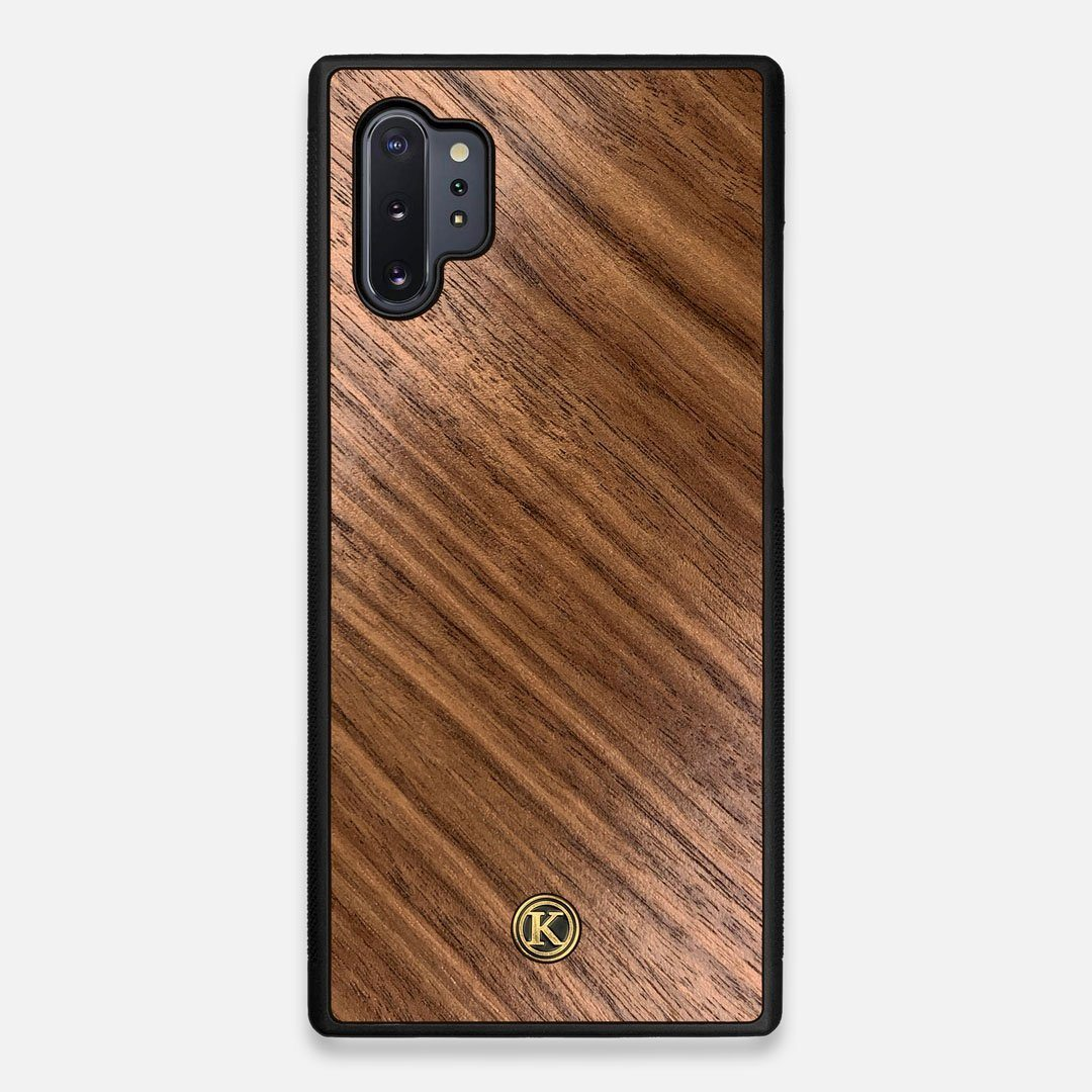 Front view of the Walnut Pure Minimalist Wood Galaxy Note 10 Plus Case by Keyway Designs
