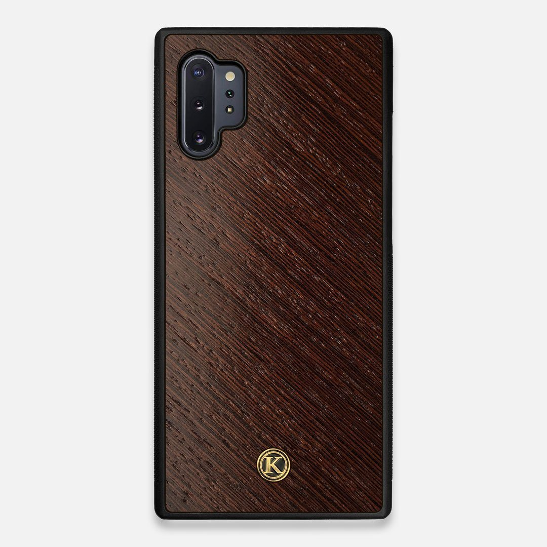 Front view of the Wenge Pure Minimalist Wood Galaxy Note 10 Plus Case by Keyway Designs