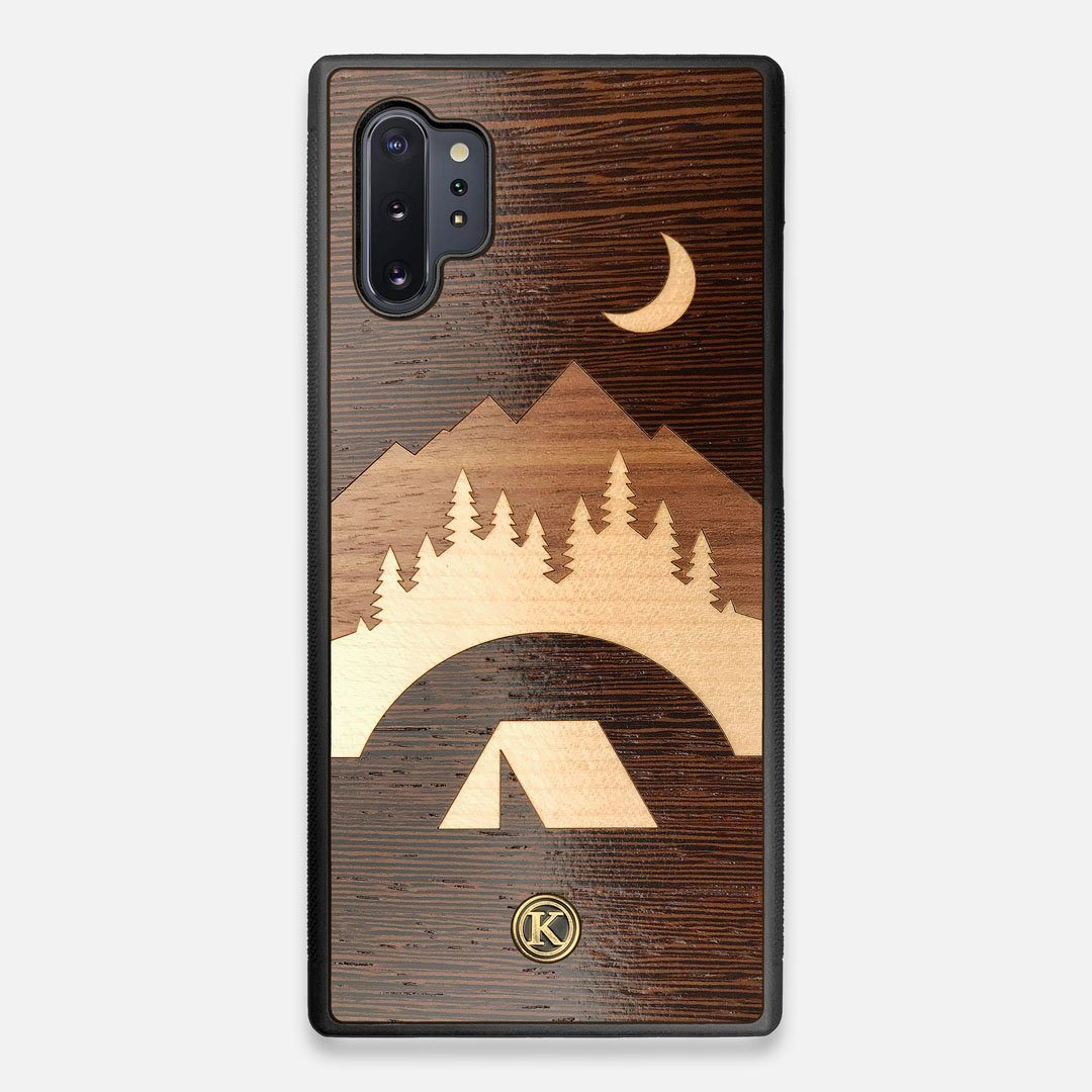 Front view of the Wilderness Wenge Wood Galaxy Note 10 Plus Case by Keyway Designs