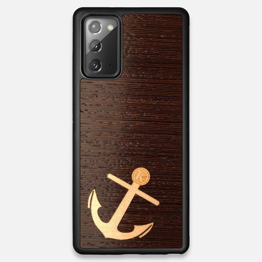 Front view of the Wilderness Wenge Wood Galaxy Note 20 Case by Keyway Designs