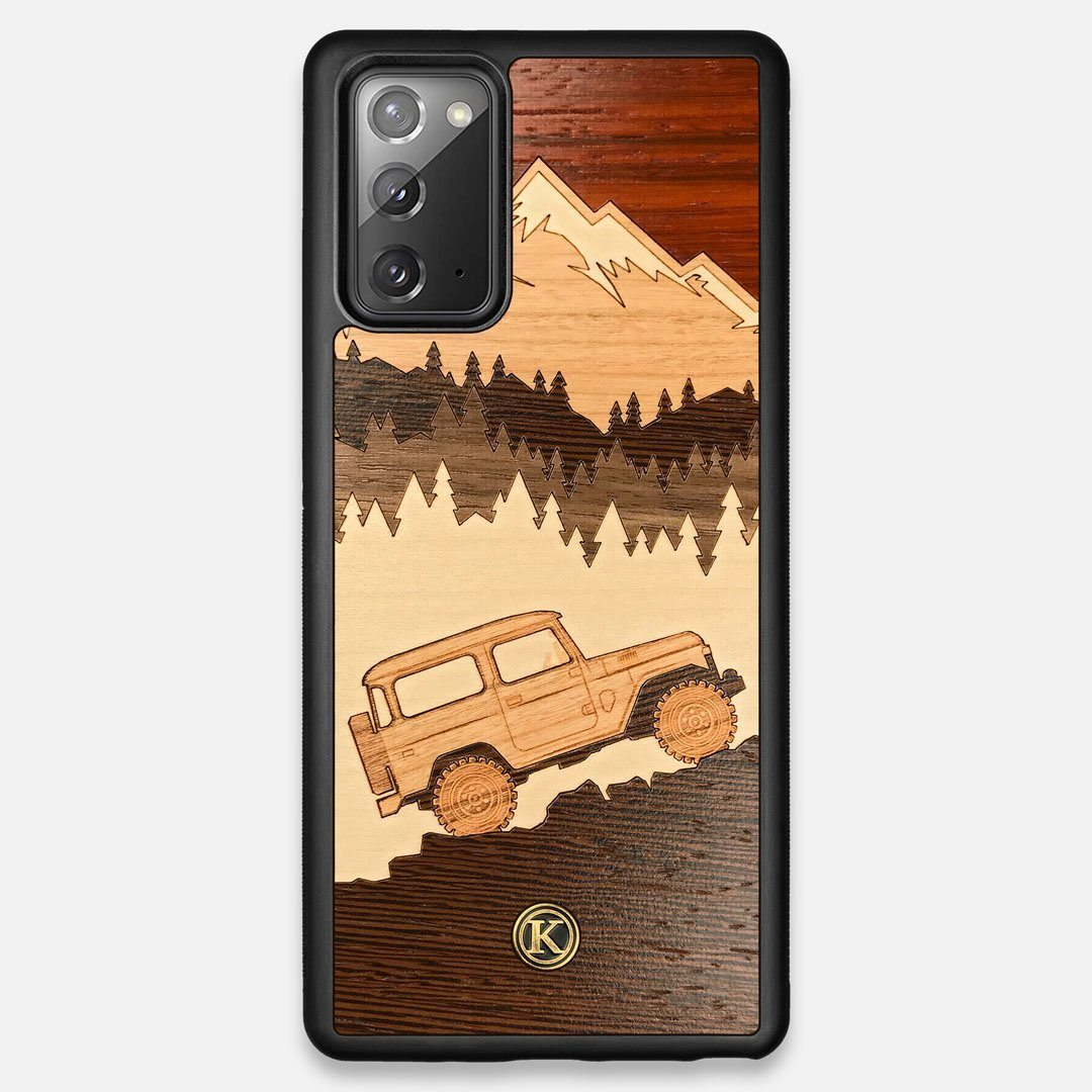 TPU/PC Sides of the Off-Road Wood Galaxy Note 20 Case by Keyway Designs