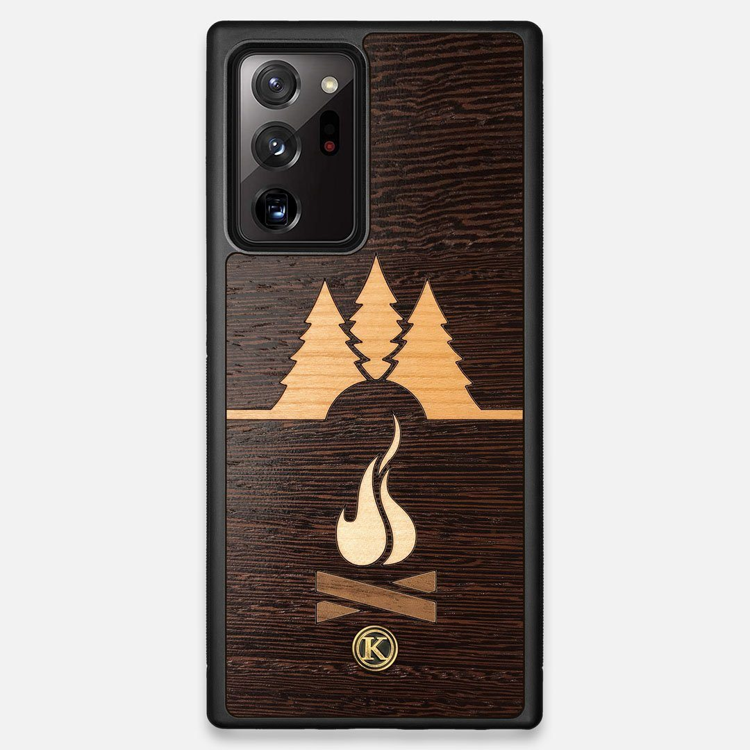 Front view of the Nomad Campsite Wood Galaxy Note 20 Ultra Case by Keyway Designs