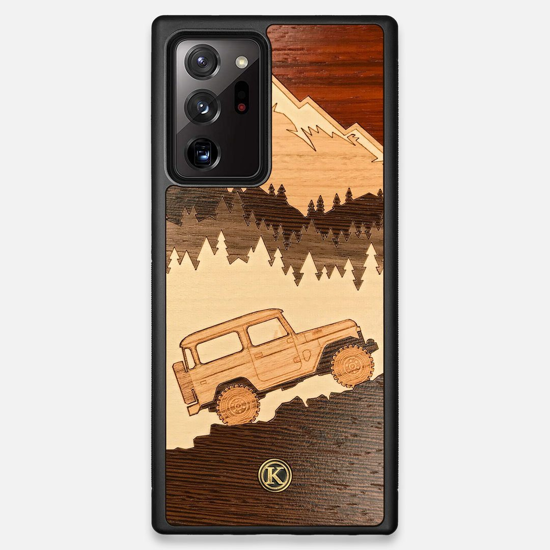 TPU/PC Sides of the Off-Road Wood Galaxy Note 20 Ultra Case by Keyway Designs