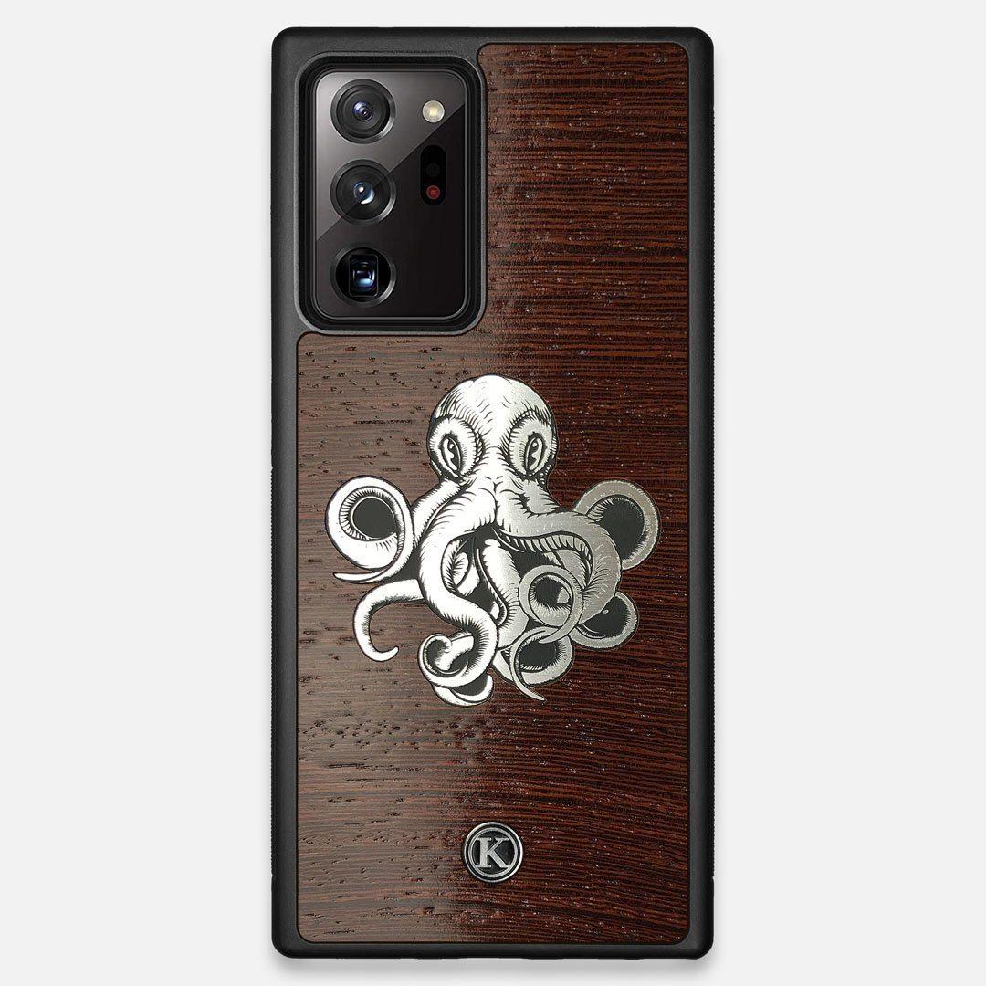 Front view of the Prize Kraken Wenge Wood Galaxy Note 20 Ultra Case by Keyway Designs