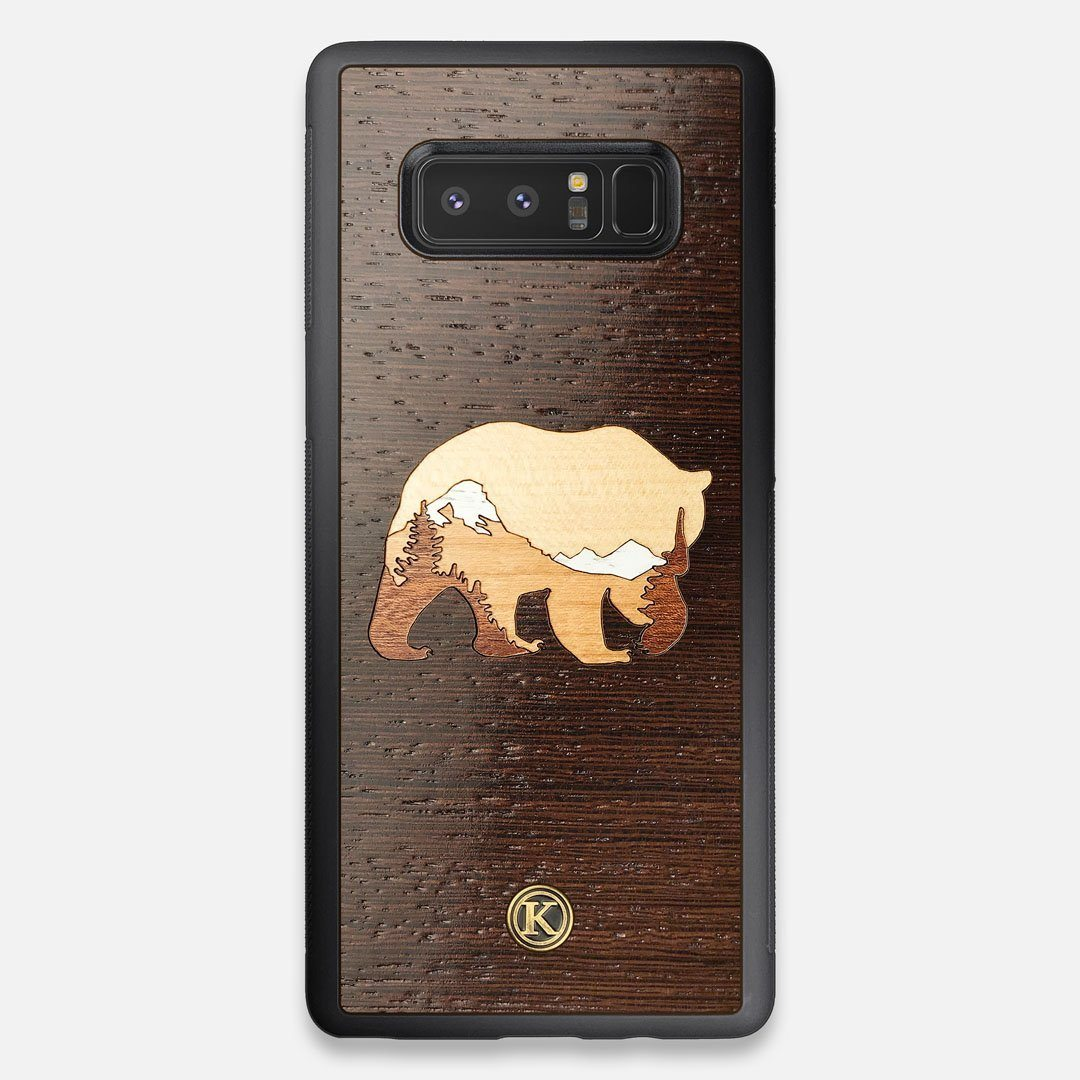 TPU/PC Sides of the Bear Mountain Wood Galaxy Note 8 Case by Keyway Designs
