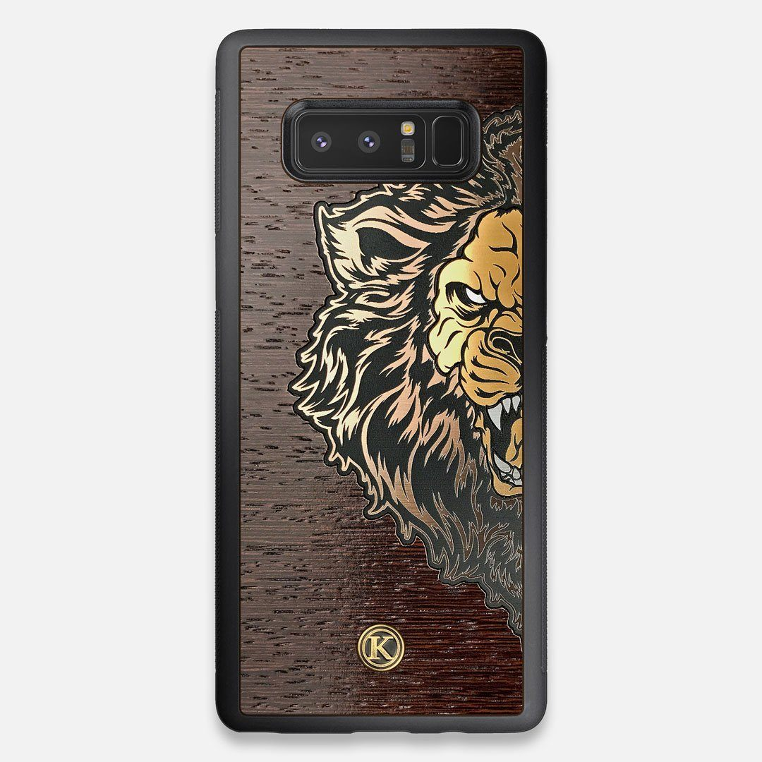 TPU/PC Sides of the classic Camera, silver metallic and wood Galaxy Note 8 Case by Keyway Designs