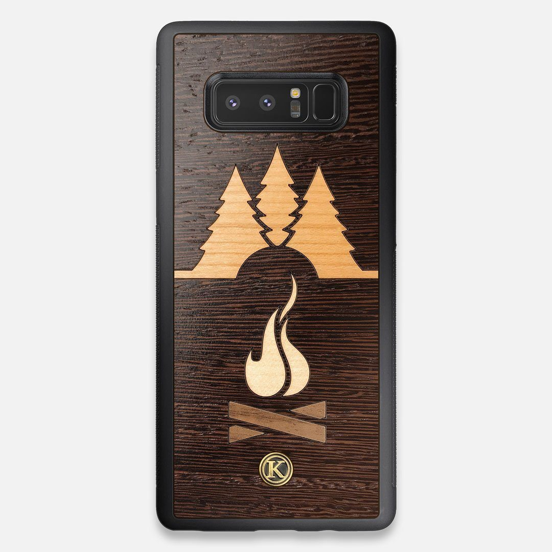 Front view of the Nomad Campsite Wood Galaxy Note 8 Case by Keyway Designs