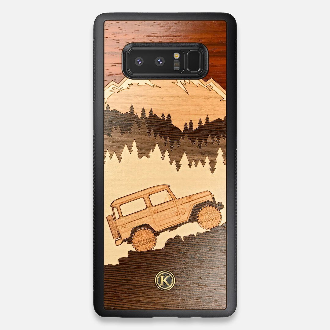 TPU/PC Sides of the Off-Road Wood Galaxy Note 8 Case by Keyway Designs