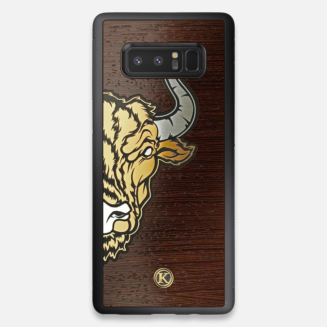 Front view of the Toro By Orozco Design Wenge Wood Galaxy Note 8 Case by Keyway Designs