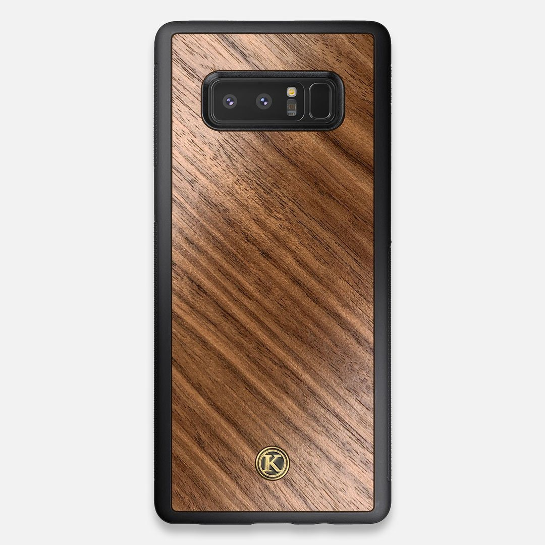 Front view of the Walnut Pure Minimalist Wood Galaxy Note 8 Case by Keyway Designs