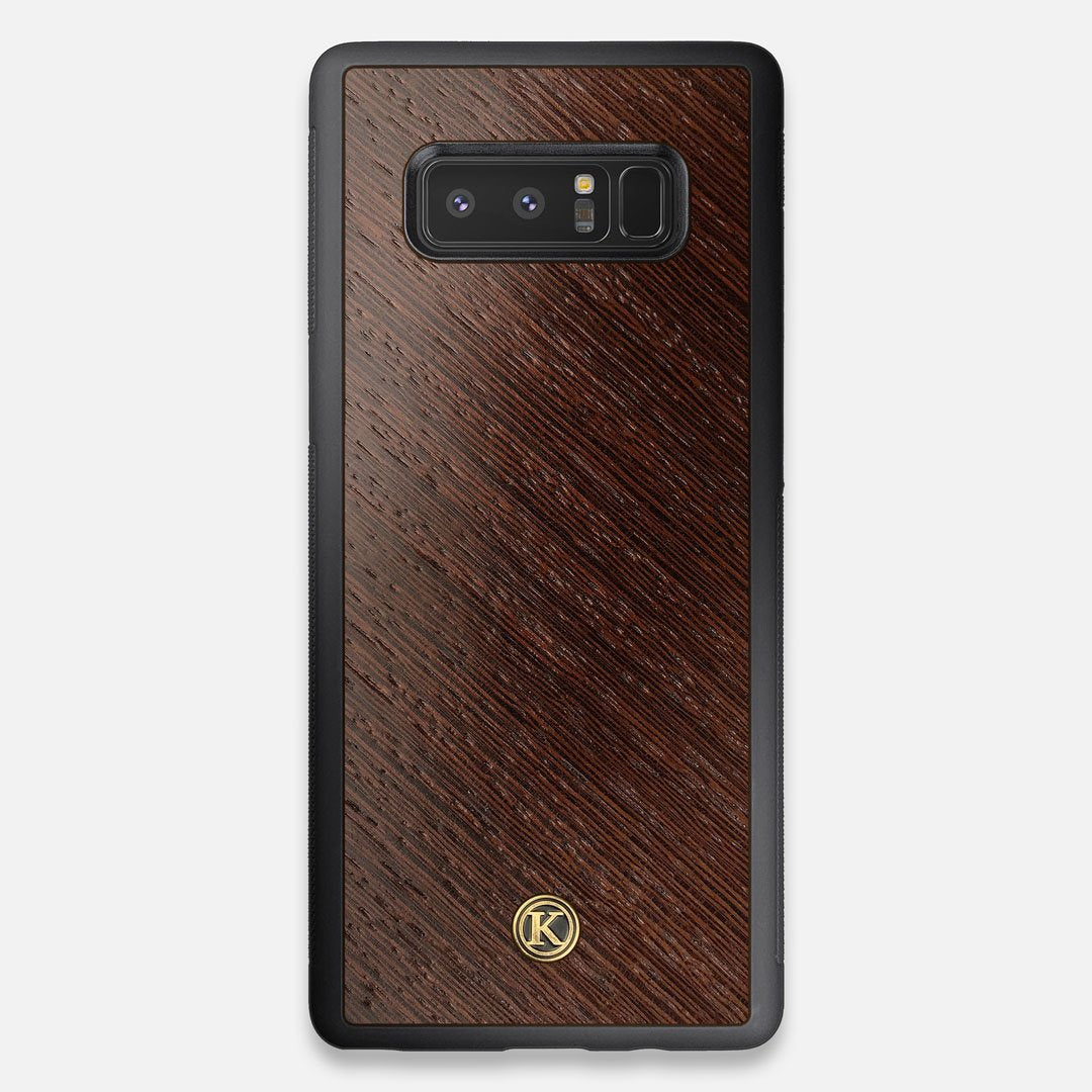Front view of the Wenge Pure Minimalist Wood Galaxy Note 8 Case by Keyway Designs