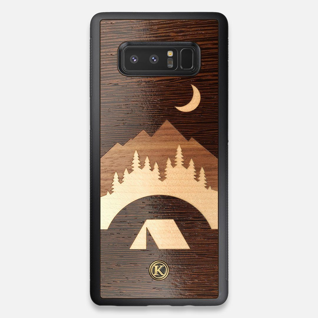 Front view of the Wilderness Wenge Wood Galaxy Note 8 Case by Keyway Designs