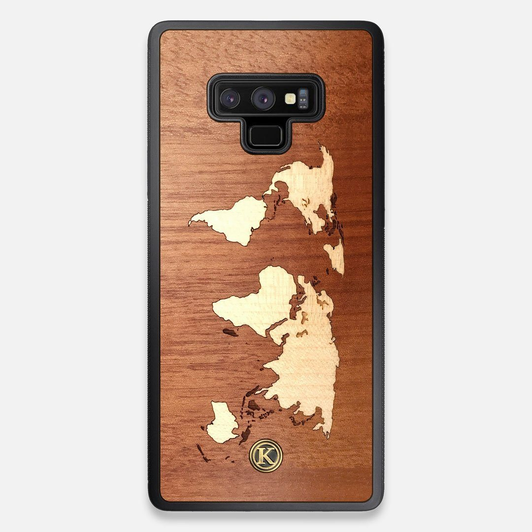 Front view of the Atlas Sapele Wood Galaxy Note 9 Case by Keyway Designs
