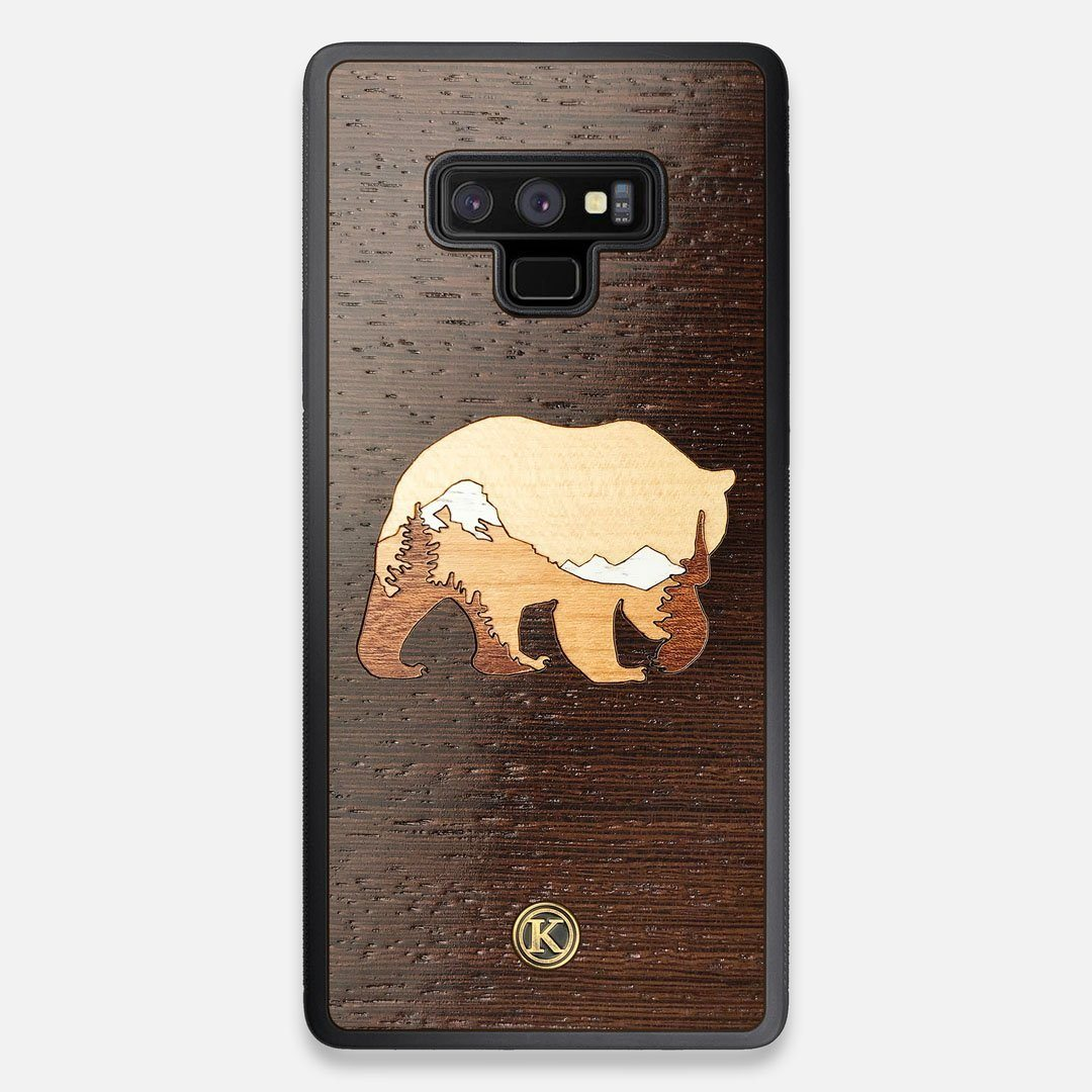 TPU/PC Sides of the Bear Mountain Wood Galaxy Note 9 Case by Keyway Designs