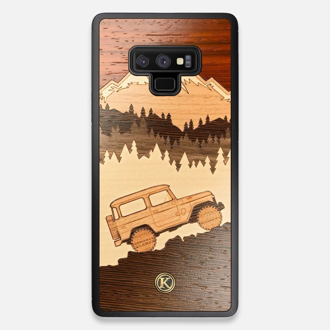 TPU/PC Sides of the Off-Road Wood Galaxy Note 9 Case by Keyway Designs