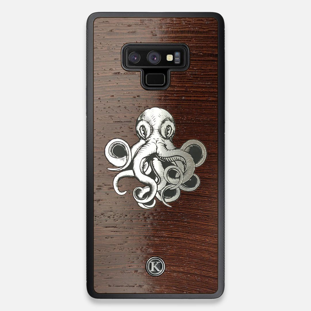 Front view of the Prize Kraken Wenge Wood Galaxy Note 9 Case by Keyway Designs