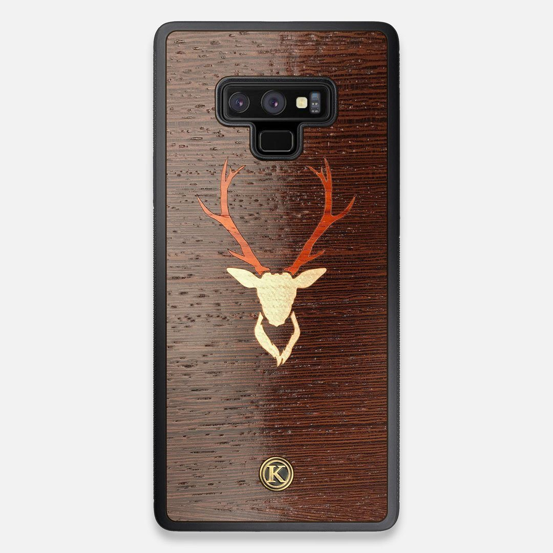 Front view of the Stag Wenge Wood Galaxy Note 9 Case by Keyway Designs