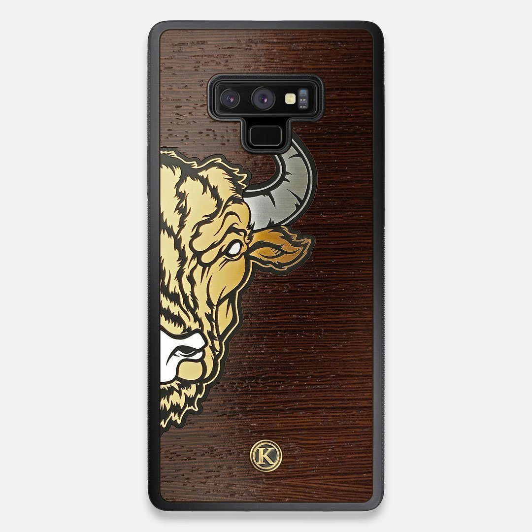 Front view of the Toro By Orozco Design Wenge Wood Galaxy Note 9 Case by Keyway Designs