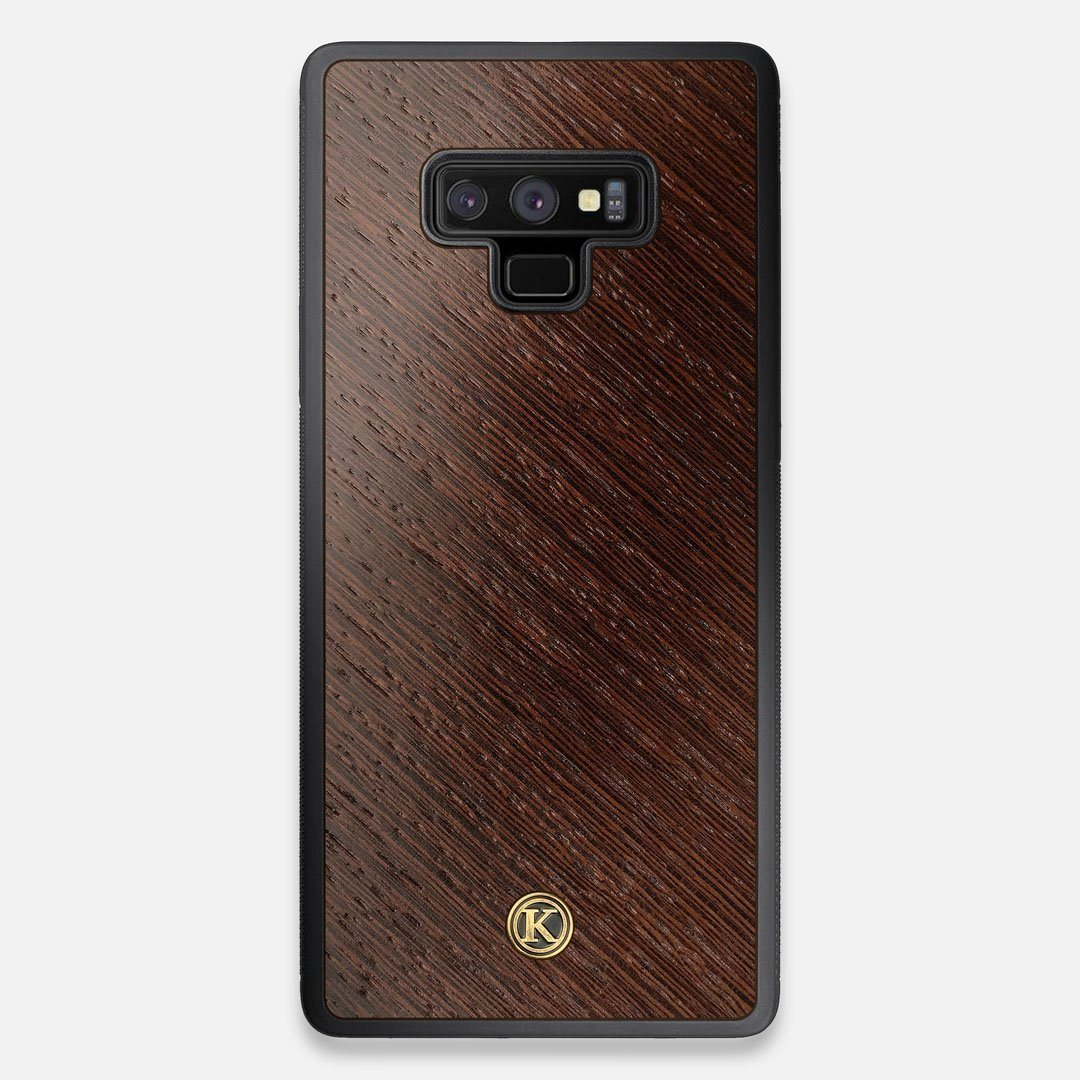 Front view of the Wenge Pure Minimalist Wood Galaxy Note 9 Case by Keyway Designs