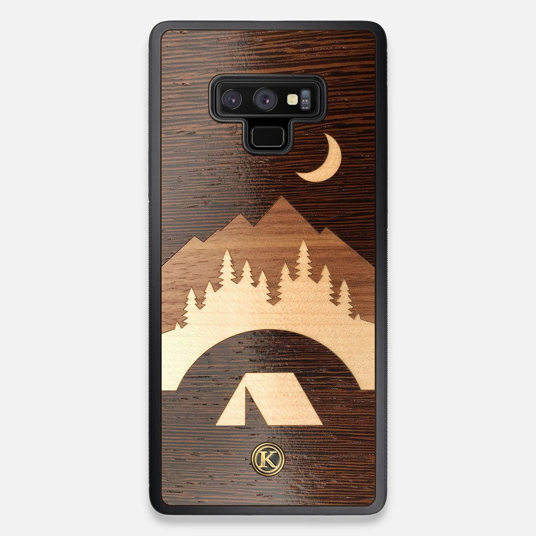 Front view of the Wilderness Wenge Wood Galaxy Note 9 Case by Keyway Designs