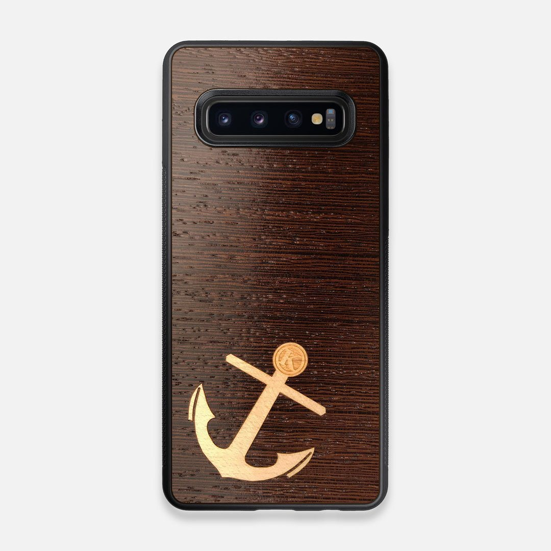 Front view of the Wilderness Wenge Wood Galaxy S10 Case by Keyway Designs