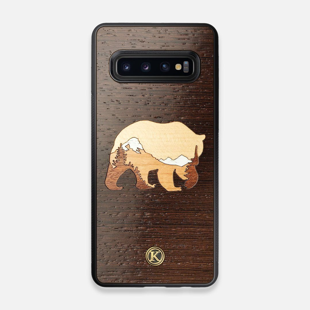 TPU/PC Sides of the Bear Mountain Wood Galaxy S10 Case by Keyway Designs