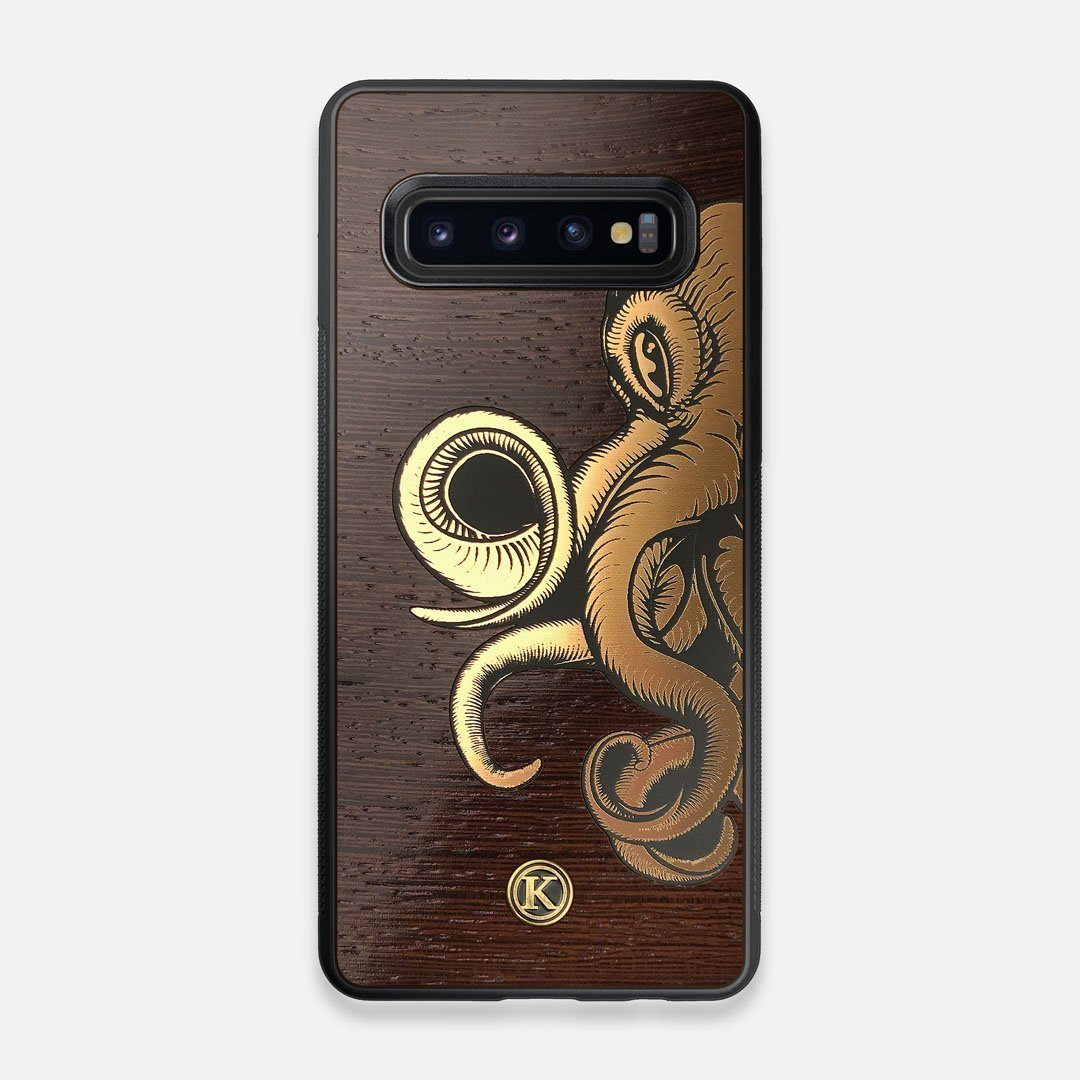 TPU/PC Sides of the classic Camera, silver metallic and wood Galaxy S10 Case by Keyway Designs