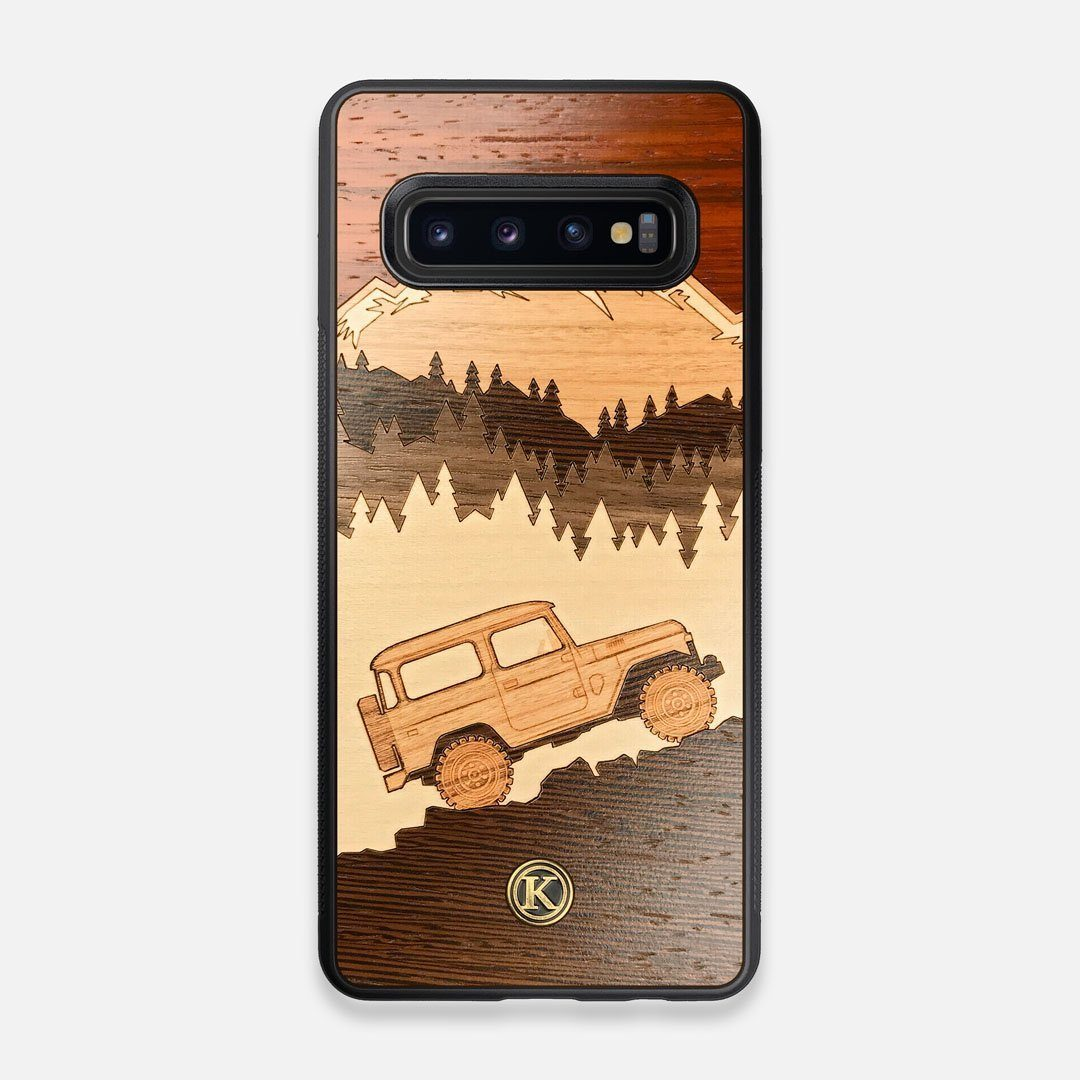 TPU/PC Sides of the Off-Road Wood Galaxy S10 Case by Keyway Designs