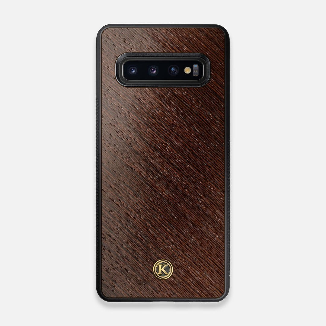 Front view of the Wenge Pure Minimalist Wood Galaxy S10 Case by Keyway Designs