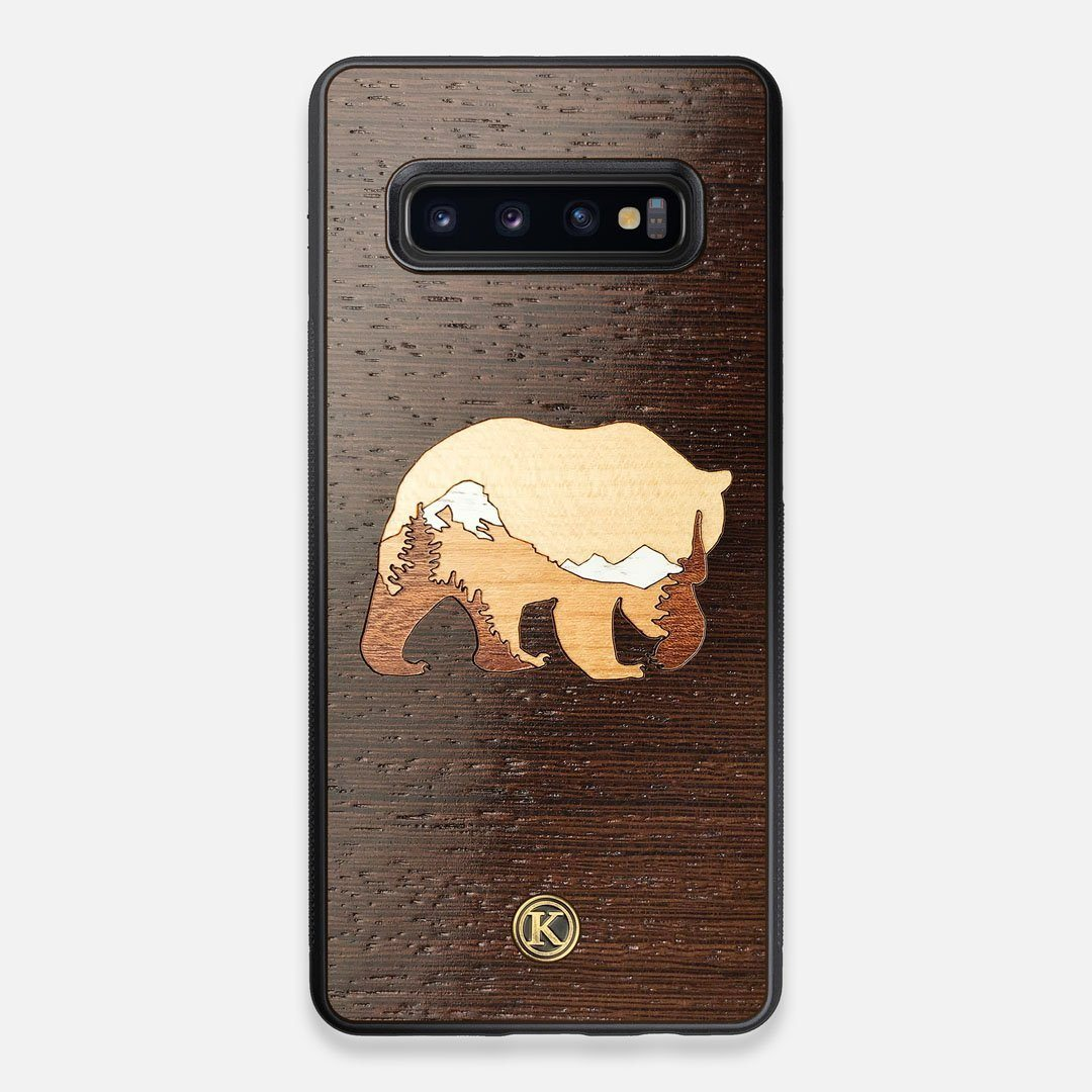 TPU/PC Sides of the Bear Mountain Wood Galaxy S10+ Case by Keyway Designs