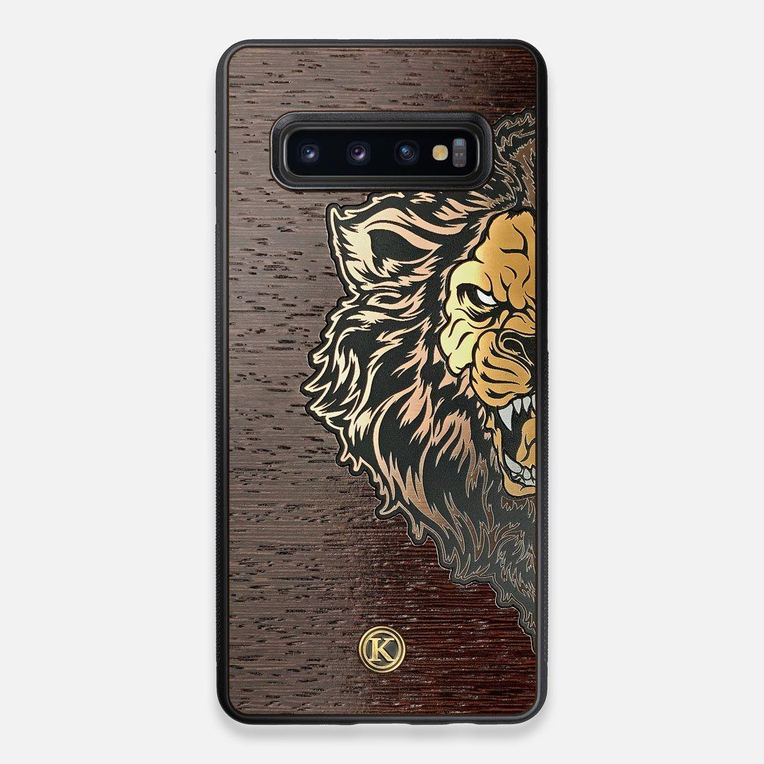 TPU/PC Sides of the classic Camera, silver metallic and wood Galaxy S10+ Case by Keyway Designs