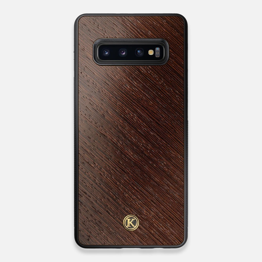 Front view of the Wenge Pure Minimalist Wood Galaxy S10+ Case by Keyway Designs
