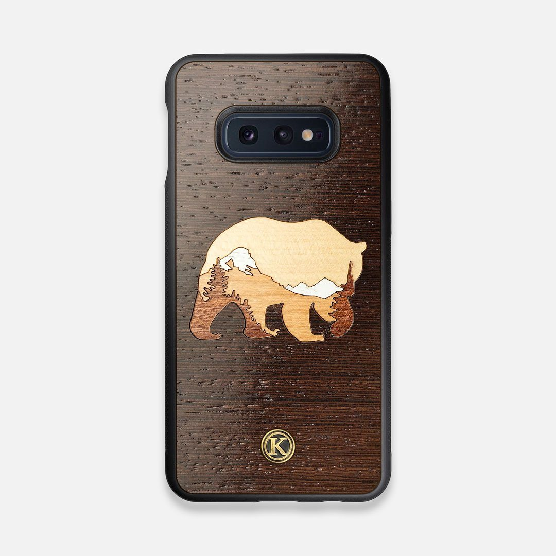 TPU/PC Sides of the Bear Mountain Wood Galaxy S10e Case by Keyway Designs