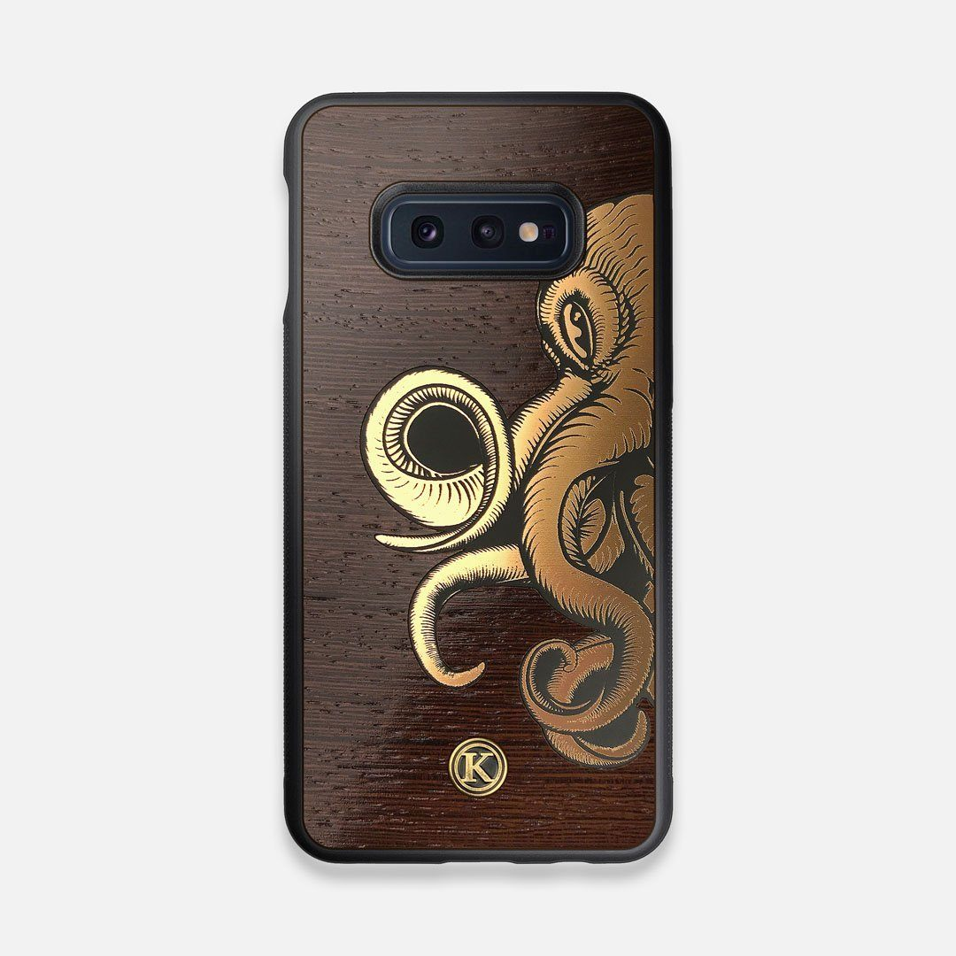 TPU/PC Sides of the classic Camera, silver metallic and wood Galaxy S10e Case by Keyway Designs