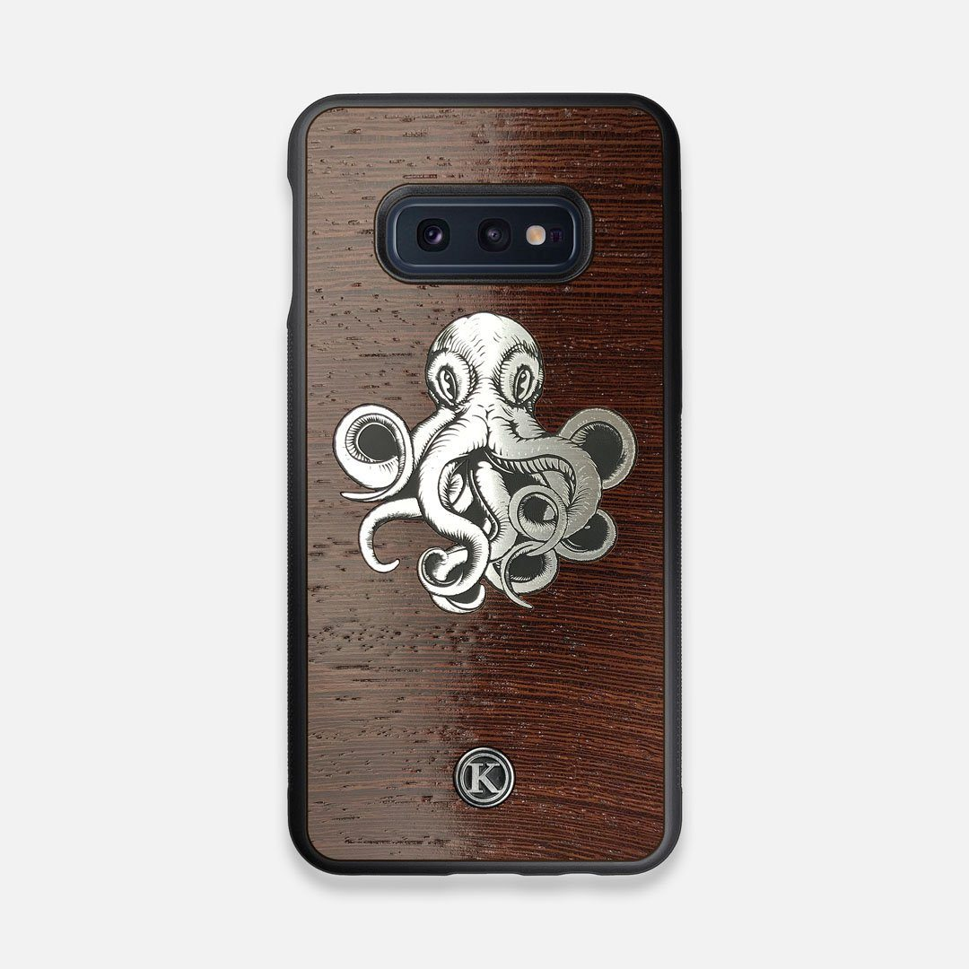 Front view of the Prize Kraken Wenge Wood Galaxy S10e Case by Keyway Designs