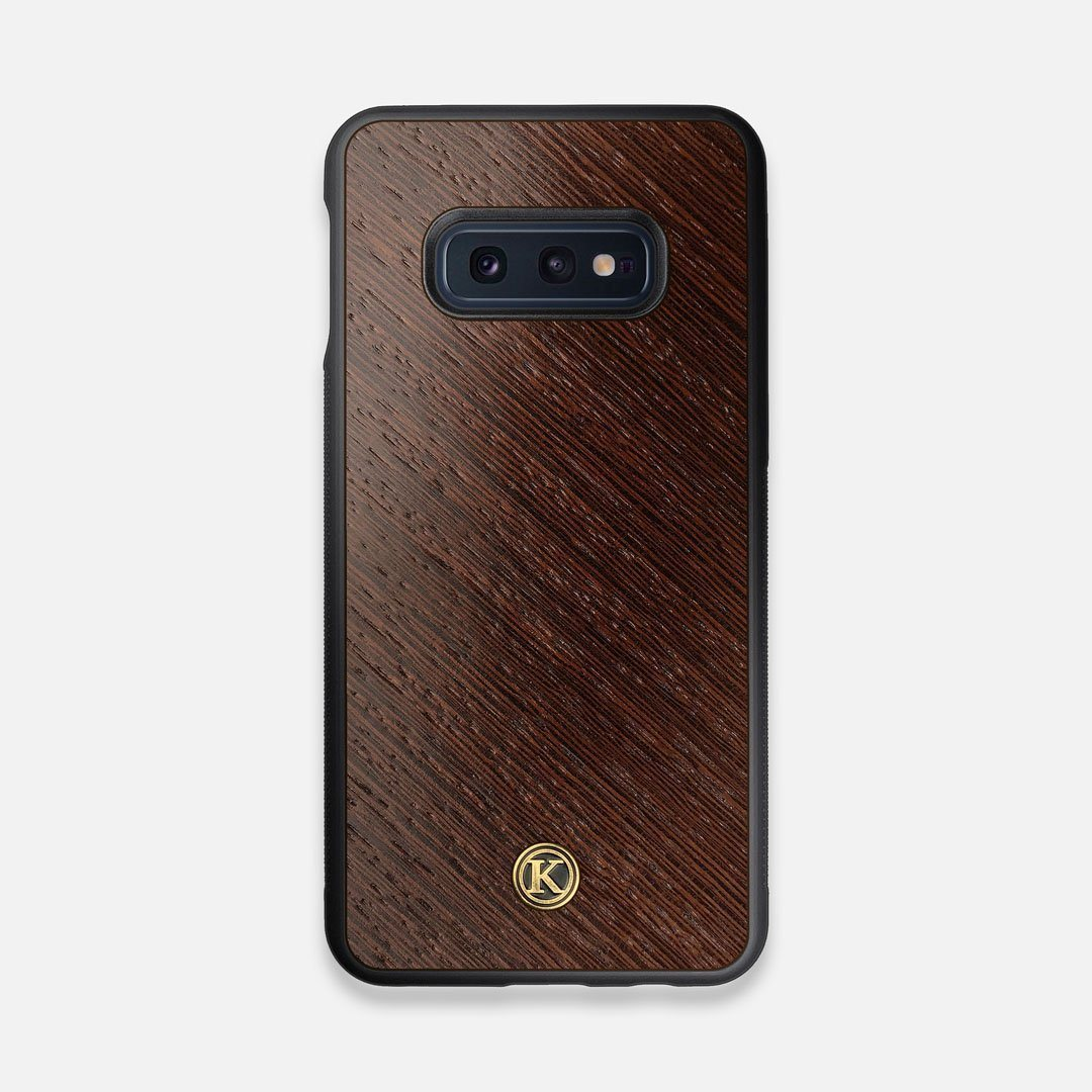 Front view of the Wenge Pure Minimalist Wood Galaxy S10e Case by Keyway Designs