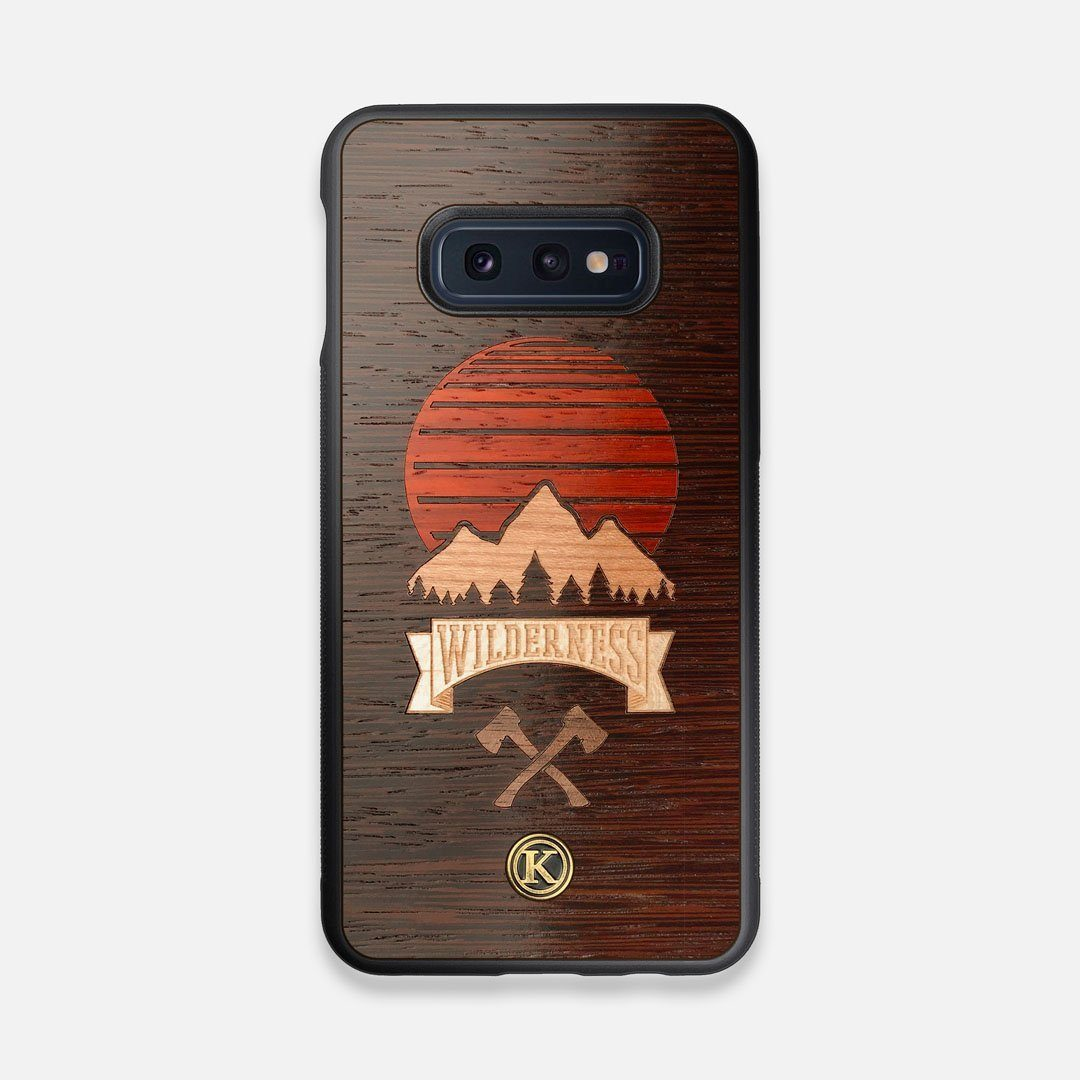 Front view of the Wilderness Wenge Wood Galaxy S10e Case by Keyway Designs