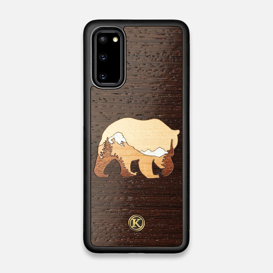 TPU/PC Sides of the Bear Mountain Wood Galaxy S20 Case by Keyway Designs