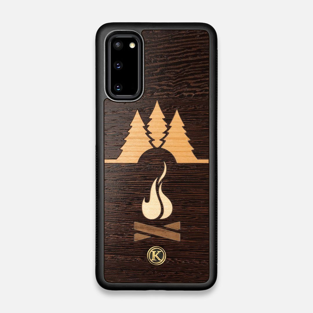Front view of the Nomad Campsite Wood Galaxy S20 Case by Keyway Designs